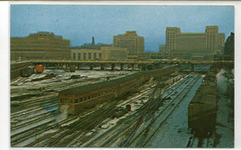Broadway Limited Pennsylvania Railroard Train Chicago Illinois postcard - $5.94