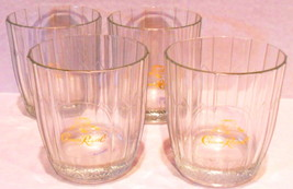 Crown Royal Whiskey Glasses Von Pok Italian Set of 4 On the Rocks - $46.48