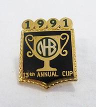 Vintage 1991 Nb 13° Annuale Coppa Soccer Team Sport Spilla Souvenir - $20.18