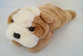 2001 Ty Beanie Buddy Wrinkles Bulldog Puppy Dog Plush Stuffed Animal Dol... - $4.69
