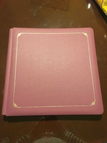 CREATIVE MEMORIES Album ROSE MAUVE PURPLE PINK New 12X12 W/Pages Scrapbooking