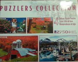 puzzles collection 4 deluxe jigsaw puzzles 2750 pieces:Fairfield vermont... - $29.39