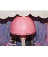 Playskool Dollhouse Pink White Floor Lamp Light fits Fisher Price Loving... - $12.86
