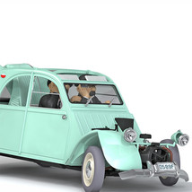 The Smashed-up 2 CV 1/24 Voiture Tintin Cars New 2019 The Castafiore Emerald image 3