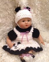 12 Inch Doll clothes,Fits Corolle Dolls. Panda Bear Dress Set. Handmade - $14.99