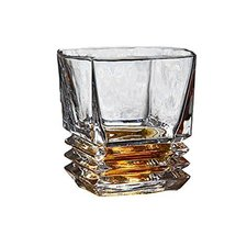 Transparent Drinking Cup Whiskey Glass Wine Cup Unique Design,A9 - $21.88