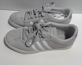 Adidas Courtset W Tennis Onix White Silver Gray Suede Womens 6.5 Sneaker... - $30.00