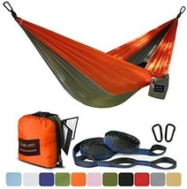 FARLAND Outdoor Camping Hammock - Portable Anti-fade Nylon Double Hammo... - $67.75