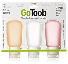 Humangear GoToob 3-Pack Large 3oz Clear/Orange/Red - $28.40