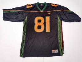 Vintage 2000s Nike Team Miami Hurricanes Jersey 81 Kellen Winslow Large ... - $28.49