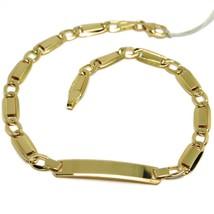Pulsera Oro Amarillo 18K 750 ,Insertos Rectangulares, Óvalos y Placa Eng... - $511.83