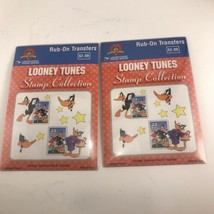 Lot Of 2 1999 Looney Tunes Stamp Collection Rub On Transfers - $1.97