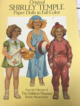 ORIGINAL SHIRLEY TEMPLE PAPER DOLLS IN FULL COLOR THE CHILDREN'S MUSEUM ... - $9.89