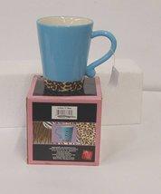 Russ Berrie 37757 Gone Wild Letter I Mug Blue Brown Leopard Print image 6