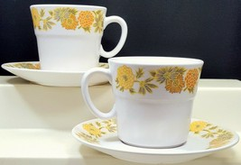 Noritake Progression Sunny Side Cup and Saucer Set of 2 White Yellow Ora... - $13.86