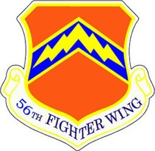 USAF 56th Fighter Wing 12'' Sticker  - $24.74