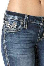 Rock Revival Women's Premium Boot Cut Light Denim Jeans Woven Pants Abelen B image 4