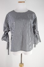 NWT Anthropologie Gingham Tie-Sleeve Blouse - Sunday in Brooklyn - Size L - $42.67
