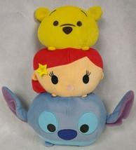 "Disney Tsum Tsum Winnie The Pooh Little Mermaid Stitch 3 Face 13"" Plush - $11.88"