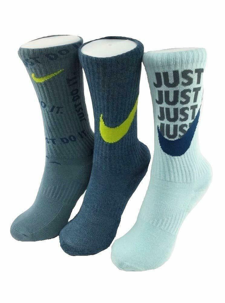 Nike Youth 3PK Everyday Cushioned Graphic Crew Socks 5Y-7Y SX7070-950