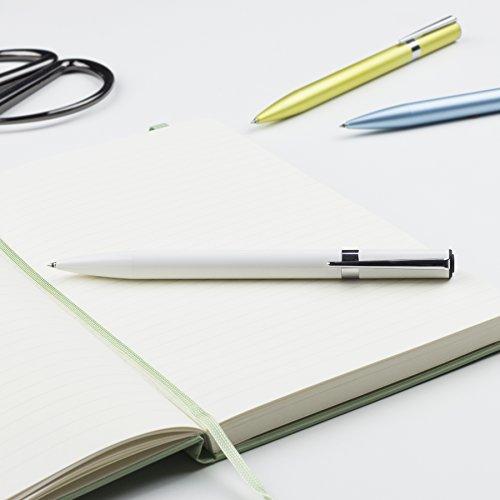 Tombow 55115 ZOOM L105 Ballpoint Pen, White, 1-Pack. Slim Tapered Design for Com