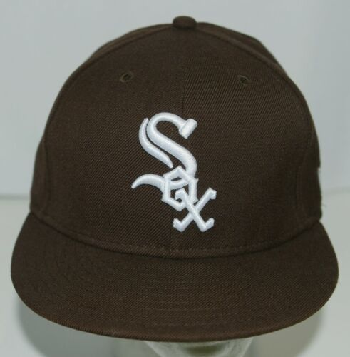 New Era CA40289 Genuine Merchandise Chicago White Sox Fitted Cap Brown Size 7