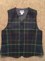 Women's Pendleton Virgin Wool Plaid Vest Size 8 Made In USA!! - $27.99