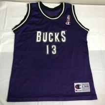 VTG Champion Jersey Milwaukee Bucks Glenn Robinson # 13 Boys L 14-16 NBA 90s - $27.00