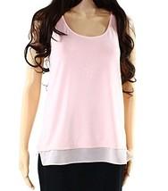 Lauren Ralph Lauren Womens Sheer Hem Sleeveless Casual Top Pink XS - $29.99