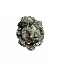 RARE Antique ROBERT Single Crystal Cluster Earring (1PC) - $9.99