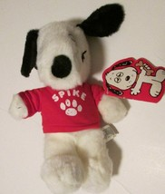 """Vintage Peanuts Plush Snoopy's brother SPIKE stuffed doll red top 10"""", Dakin - $51.99"""