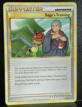 x1 SAGE'S TRAINING - 77/90 Near Mint HeartGold SoulSilver Undaunted Poke... - $1.99