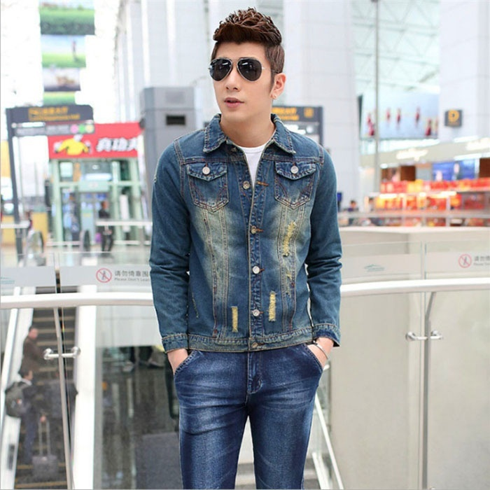 Spring Autunm Men  Fashion jean Jackets  Jacket For Men Male Jean Outerwear Clot