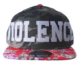 Official Crown of Laurel Peaceful Violence Camo Flowers Strapback Baseball Hat