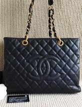 100% AUTHENTIC CHANEL CAVIAR GST GRAND SHOPPING TOTE BAG BLACK GHW - $2,499.99