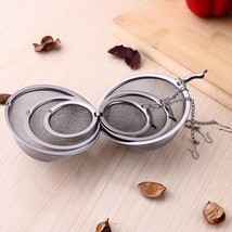Tea Filter Strainer Spice Infuser Silver Reusable Stainless Mesh Ball Di... - €2,60 EUR