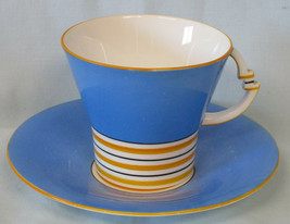 Royal Albert Cup and Saucer Art Deco from 1934, Hairline - $30.58