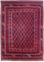 7' X 9' Baluch Red Blue New Stunning Traditional Handmade Rug - $1,223.29