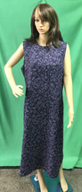 JOSEPHINE CHAUS Purple Floral Swirl Maxi Sleeveless Dress size 18 - $24.70