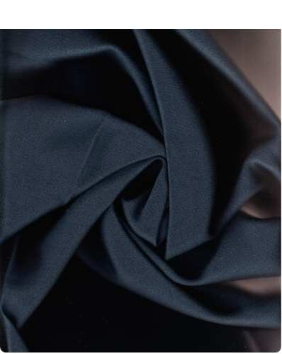 3.125 yds Knoll Upholstery Fabric Cavalier Wool Sateen Marine Blue DS