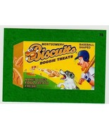 """2016 WACKY PACKAGES BASEBALL SERIES 1 GREEN BORDER STICKER """"BISCUITS TRE... - $1.00"""