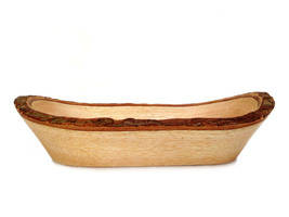 Rustic Wood Bowl Turn Wood Bowl Handmade Rustic Bowl Wooden Bowl Tree Ba... - $19.00