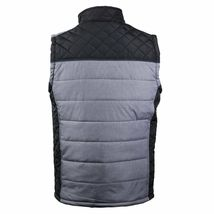 Holstark Men's Zip Up Multi Pocket Insulated Fleece Lined Two Tone Athletic Vest image 4
