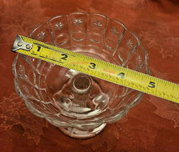 Vintage Standing Candy Dish Compote Open Stemmed Starburst Pattern image 8