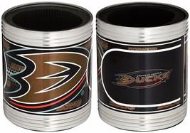 NHL Anaheim Ducks Stainless Steel Can Holder Set Hi-Definition Metallic Graphic image 1