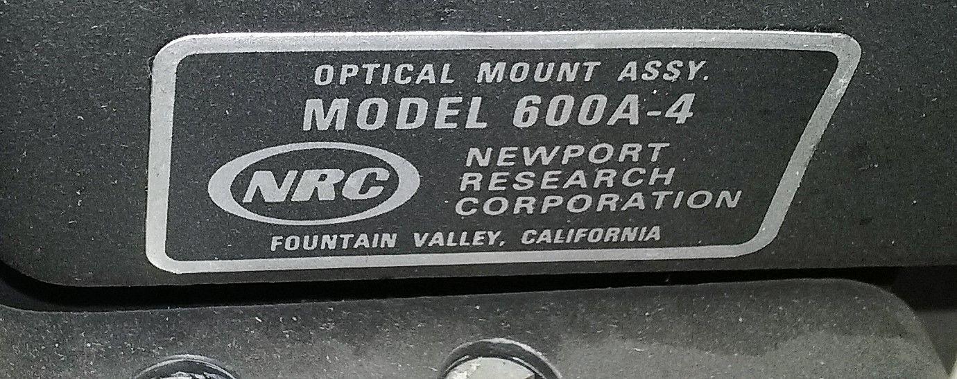 Newport Optical Mount 600A-4 Nikkor 80-200mm Lab Equipment Laser Photonics Lens image 2