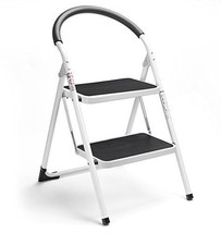Delxo 2 Step Ladder Folding Stool Steel Stepladders with Handgrip Anti-s... - $72.34