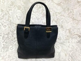 Burberrys, Black Leather Purse Hand Bag 9in x 9in x 2.5in - $94.95