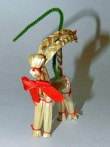 Vintage Small Swedish Woven Wheat/Straw Goat ('Julbock') Ornament - $6.00