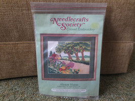 "Needlecrafts Society ALMOST HOME Crewel Embroidery SEALED Kit -  9 1/2"" ... - $7.87"